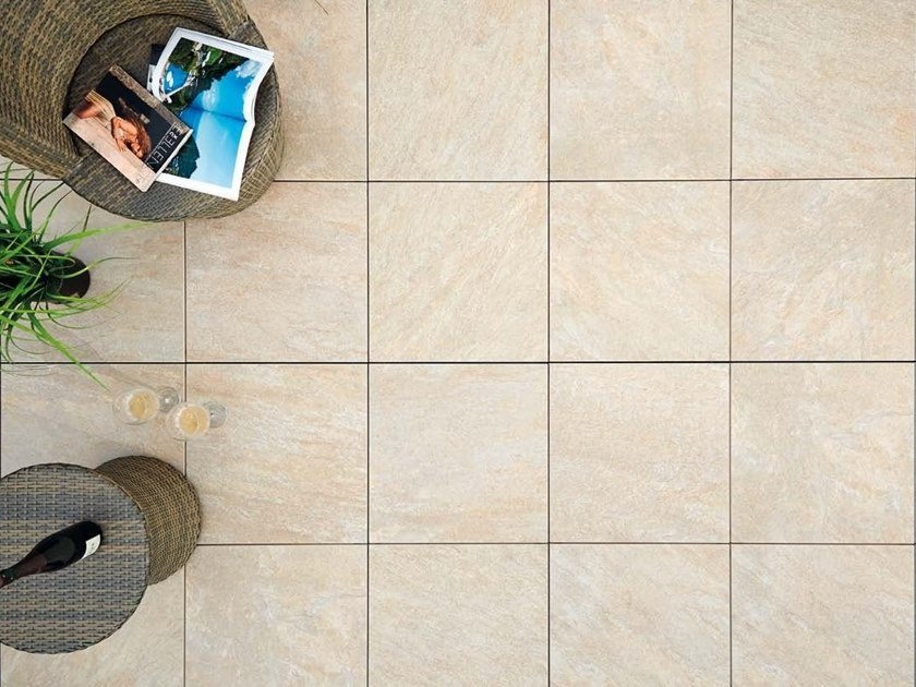 Outdoor floor tiles with stone effect COLOSSEO BARGE by GRANULATI ZANDOBBIO