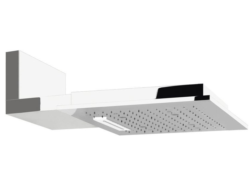 Wall-mounted overhead shower for chromotherapy COLOUR QUADRO 32923 - Gessi