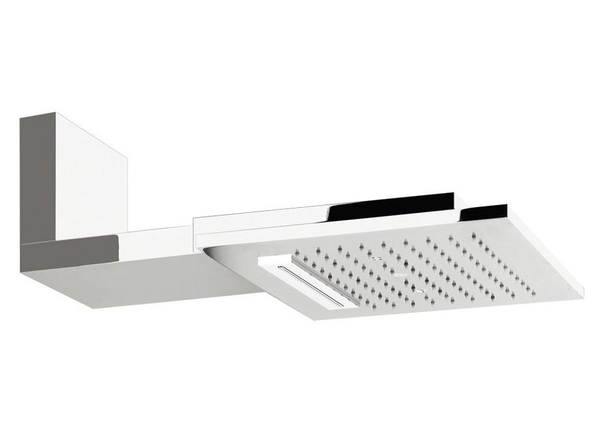 Wall-mounted overhead shower for chromotherapy COLOUR QUADRO 32943 by Gessi