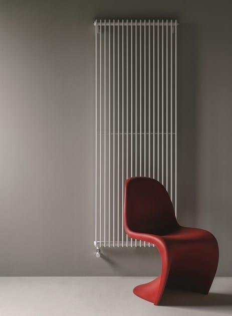 Vertical wall-mounted decorative radiator COLUMN - Tubes Radiatori