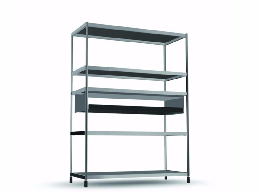 Open bookcase with drawers COM010 - SEC_com010 - Alias