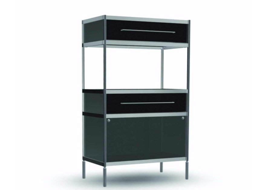 Open bookcase with drawers COM011 - SEC_com011 - Alias