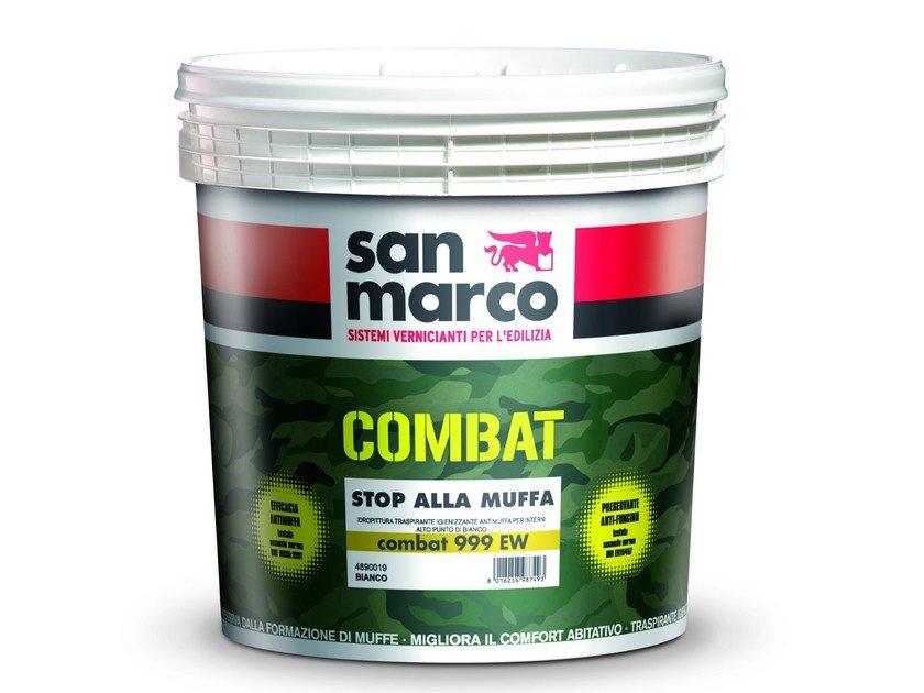 Breathable water-based paint COMBAT 999 EW - Colorificio San Marco