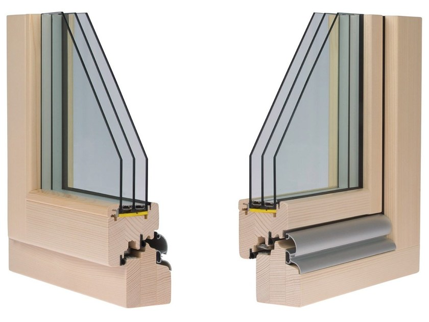 Wooden triple glazed window COMFORT 80 - Alpilegno