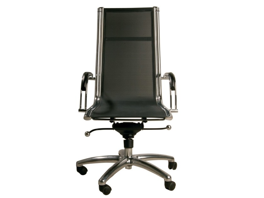Swivel task chair with armrests with casters COMMANDER HIGH - KARE-DESIGN