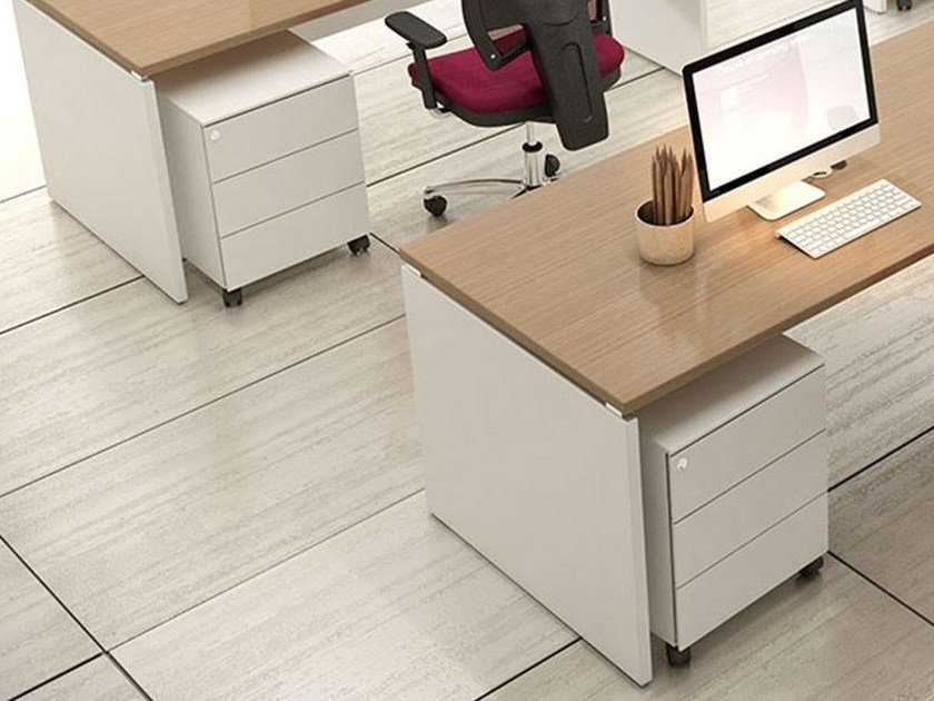 Office drawer unit with casters with lock COMPACT CCAMA by Arcadia
