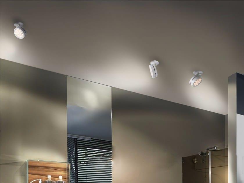 LED Ceiling aluminium light projector COMPACT | Ceiling light projector - GLIP by S.I.L.E