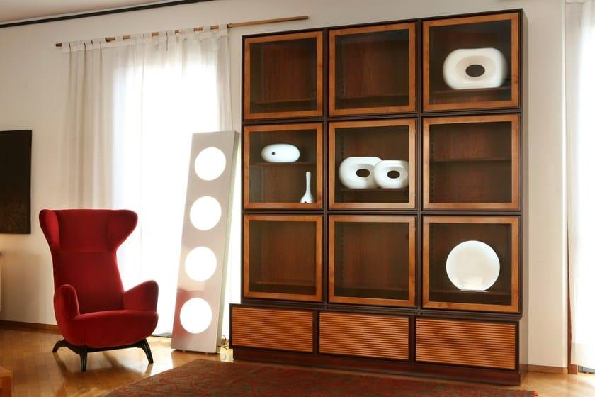 Wooden bookcase MODULO ZERO | Bookcase - Morelato