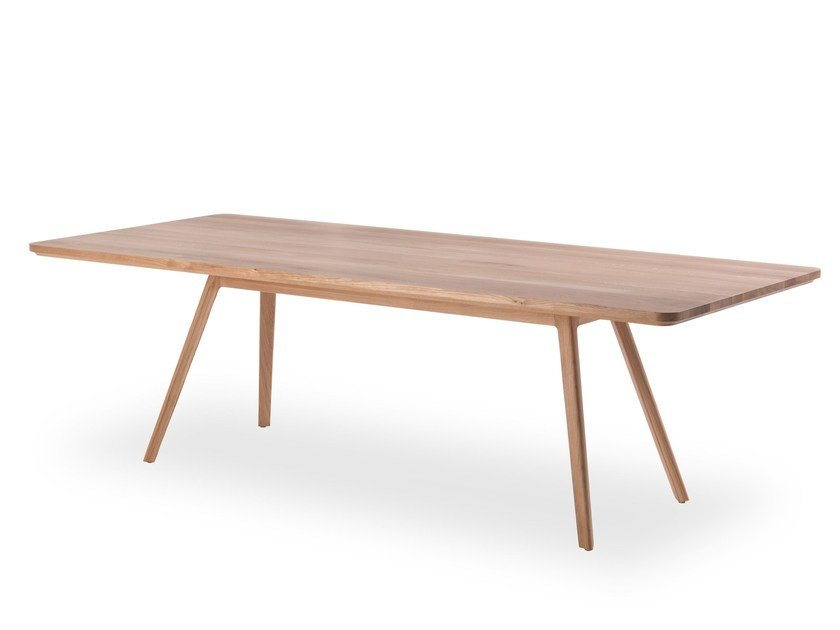 Rectangular solid wood dining table CONCEPT 2 by Riva 1920