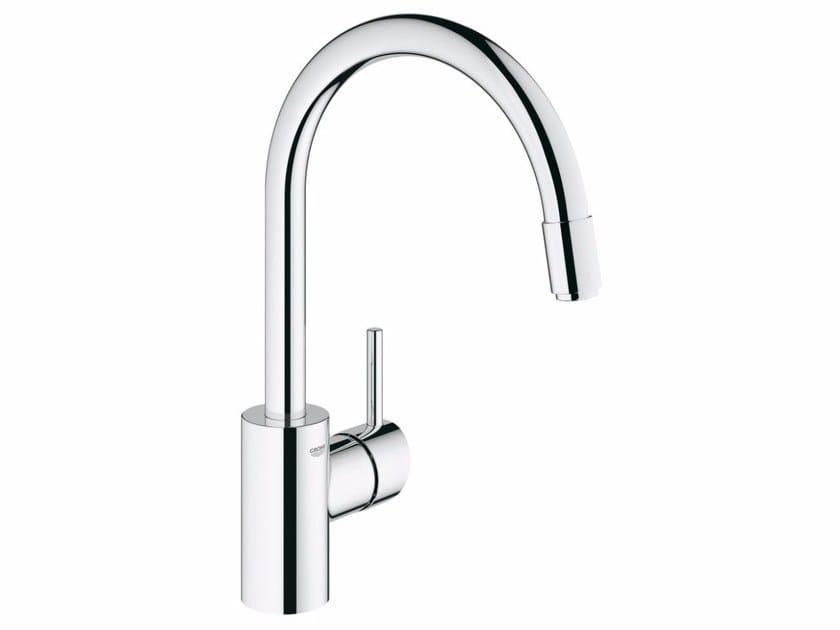 White Kitchen Mixer Tap concetto 32663001 | kitchen mixer tap with aeratorgrohe