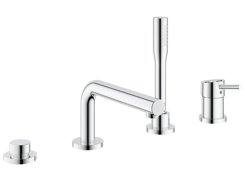4 hole single handle bathtub set with hand shower CONCETTO | 4 hole bathtub set - Grohe