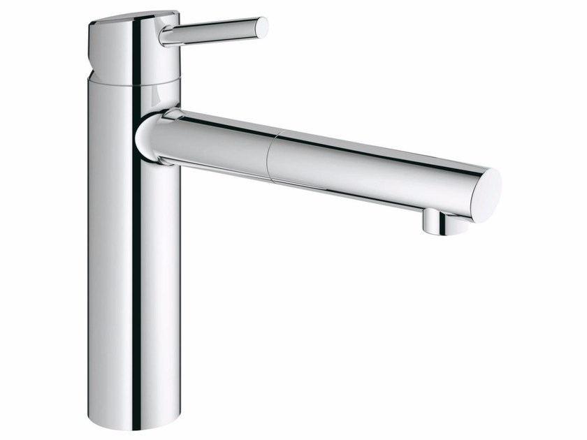 Countertop 1 hole kitchen mixer tap with swivel spout CONCETTO | Kitchen mixer tap with pull out spray by Grohe