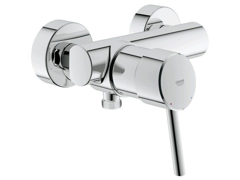 Single handle shower mixer CONCETTO | 2 hole shower mixer by Grohe