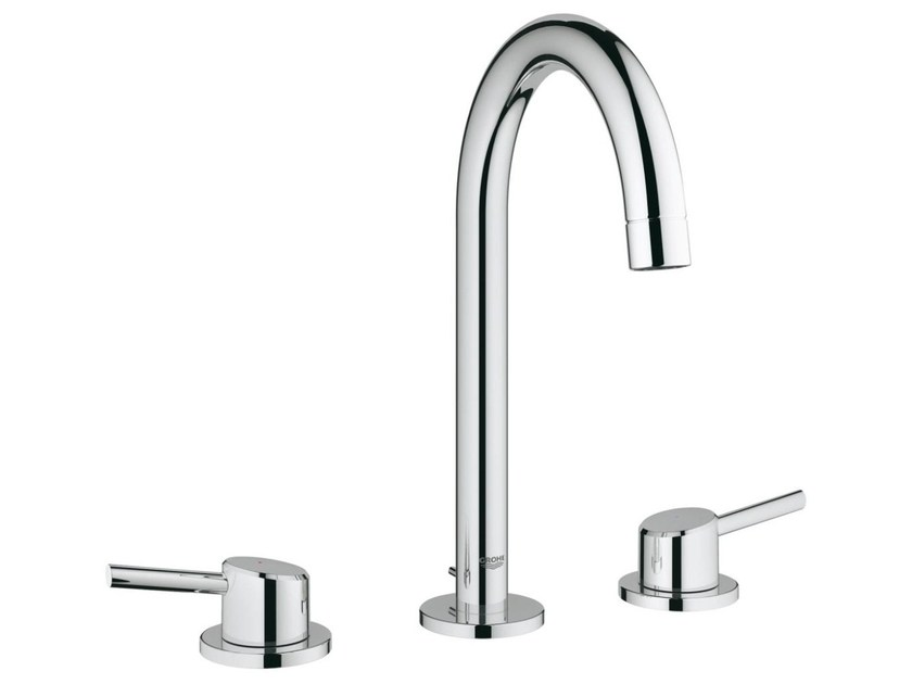 3 hole countertop washbasin tap with individual rosettes CONCETTO SIZE L | 3 hole washbasin tap - Grohe