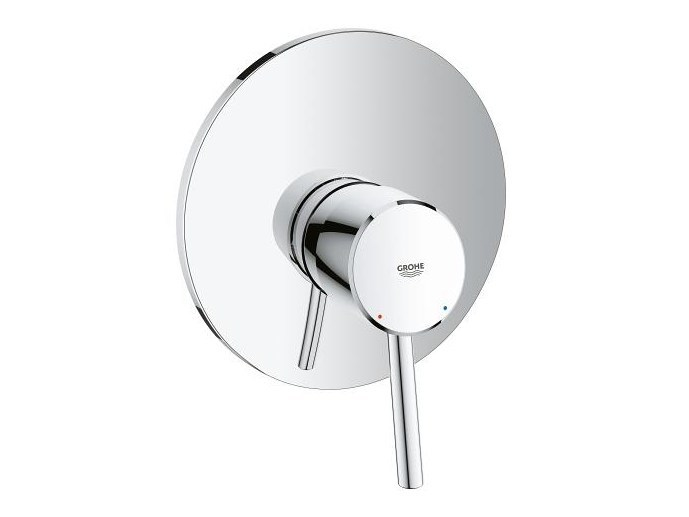 Single handle shower mixer with plate CONCETTO | Shower mixer - Grohe