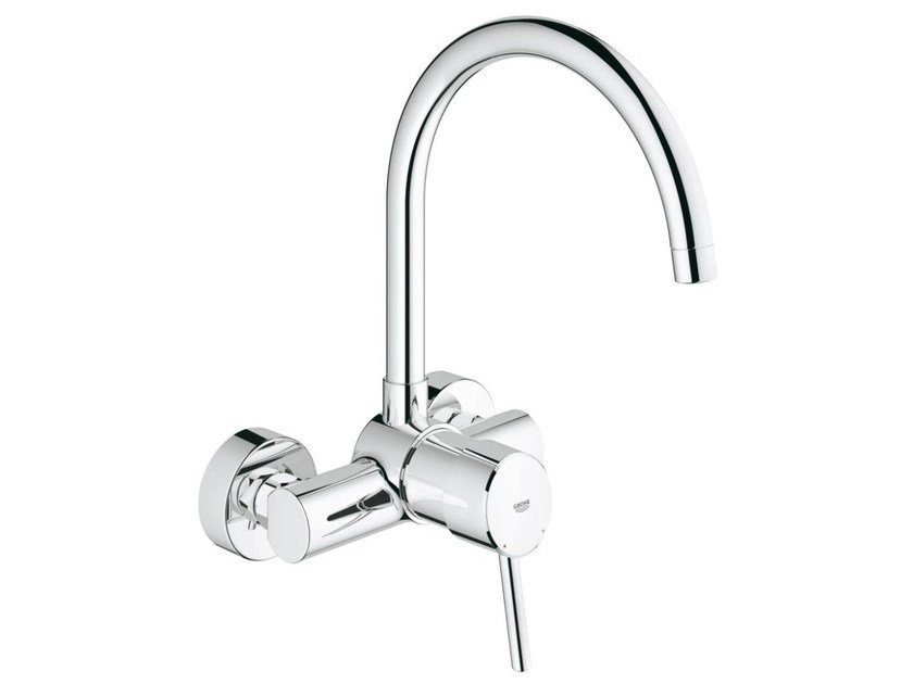 2 hole kitchen mixer tap with swivel spout CONCETTO | Wall-mounted kitchen mixer tap by Grohe