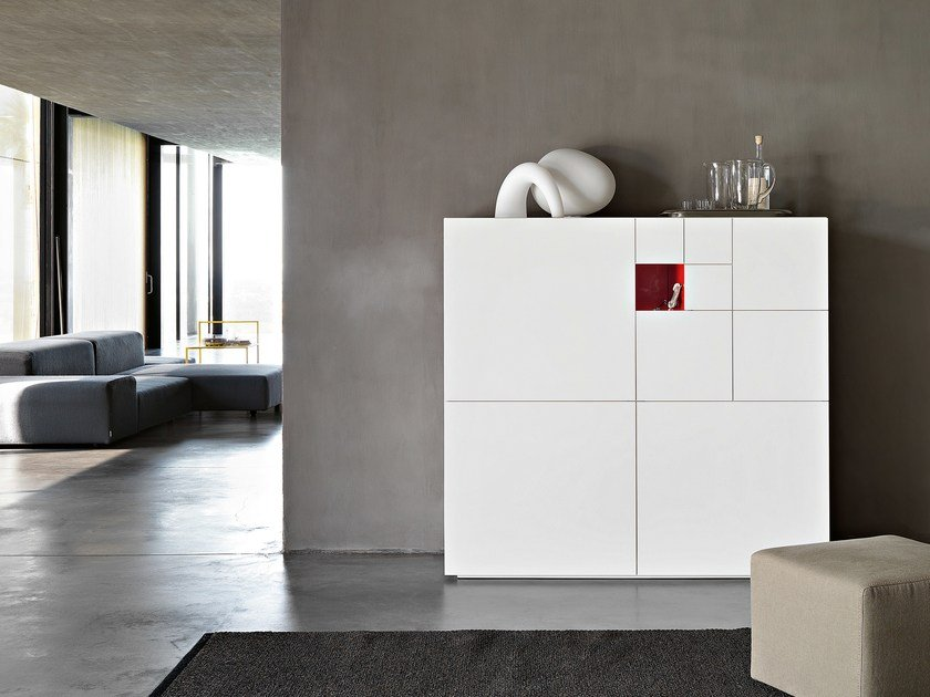 Highboard with doors with drawers CONCHIGLIA - Lema