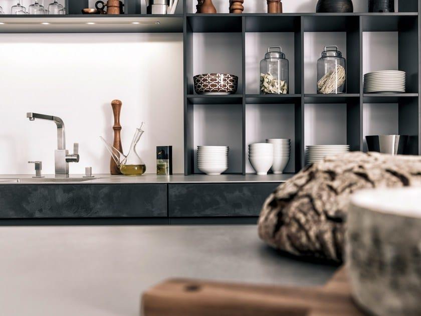 Küche mit Kücheninsel CONCRETE-A by LEICHT Küchen
