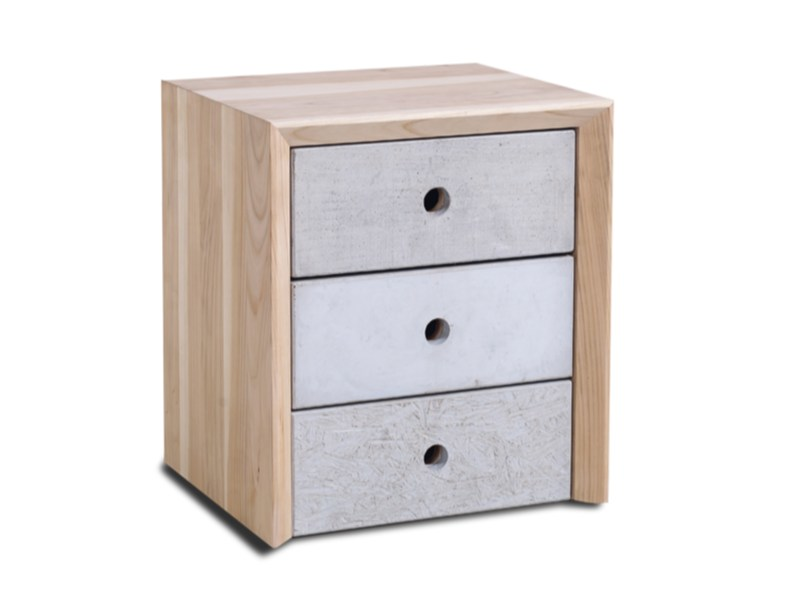 Bedside table with drawers CONCRETE - HOOKL und STOOL