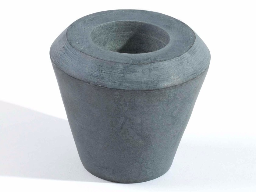 Steatite candle holder CONE OF STONE - Tiipoi