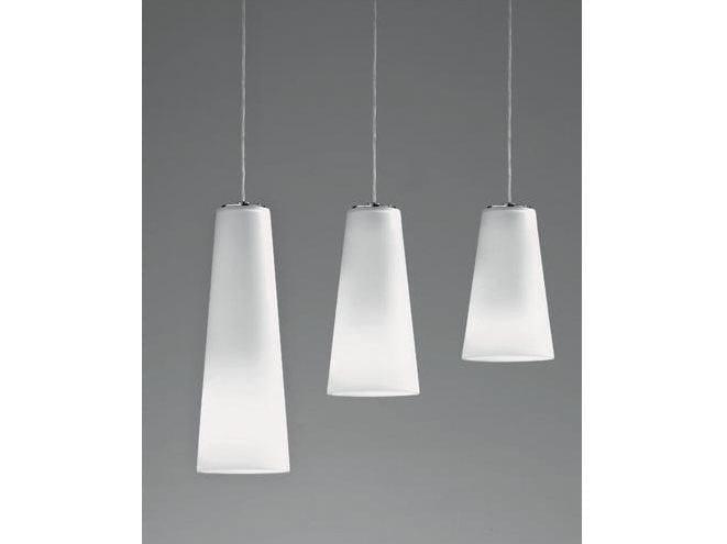 Glass pendant lamp CONETTO | Pendant lamp - Ailati Lights