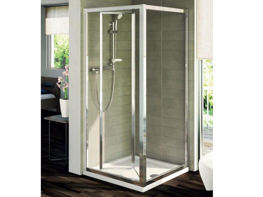 Box doccia in vetro temperato con porte a soffietto connect   mod ...