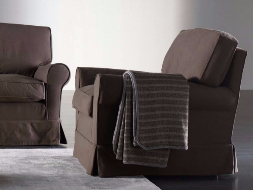 Armchair with removable cover CONNY | Armchair by Meridiani