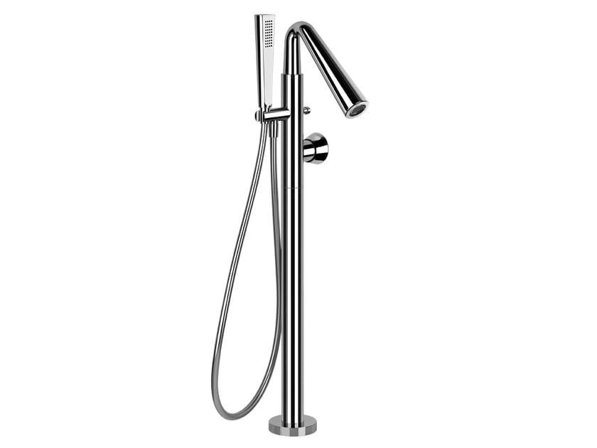 Floor standing bathtub tap with hand shower CONO BATH 45028 by Gessi