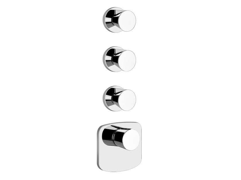 4 hole thermostatic shower mixer CONO SHOWER 45236 - Gessi