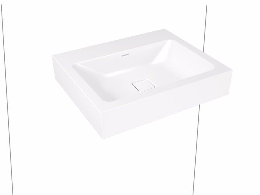 Rectangular wall-mounted enamelled steel washbasin CONO | Wall-mounted washbasin by Kaldewei Italia