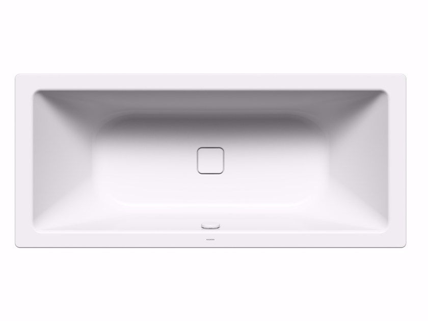 Rectangular enamelled steel bathtub CONODUO by Kaldewei Italia