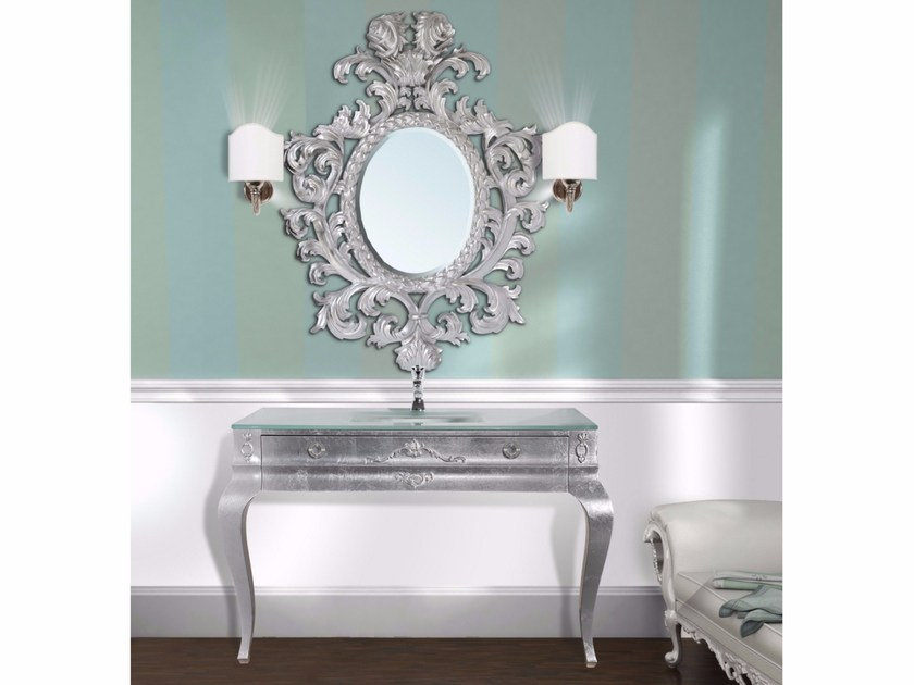 Console sink with drawers with mirror CONSOLLE CM49DC by LA BUSSOLA