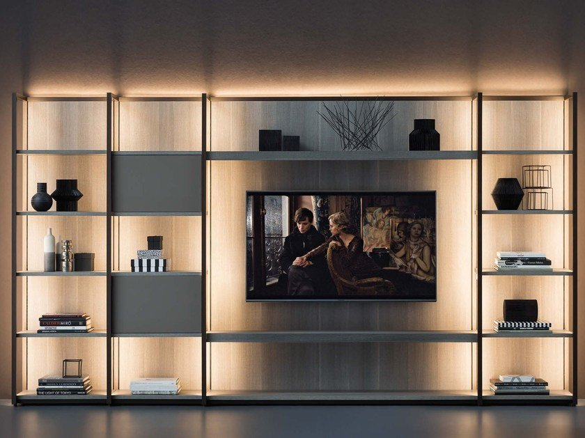 TV wall system CONTINUUM | Storage wall by Natevo