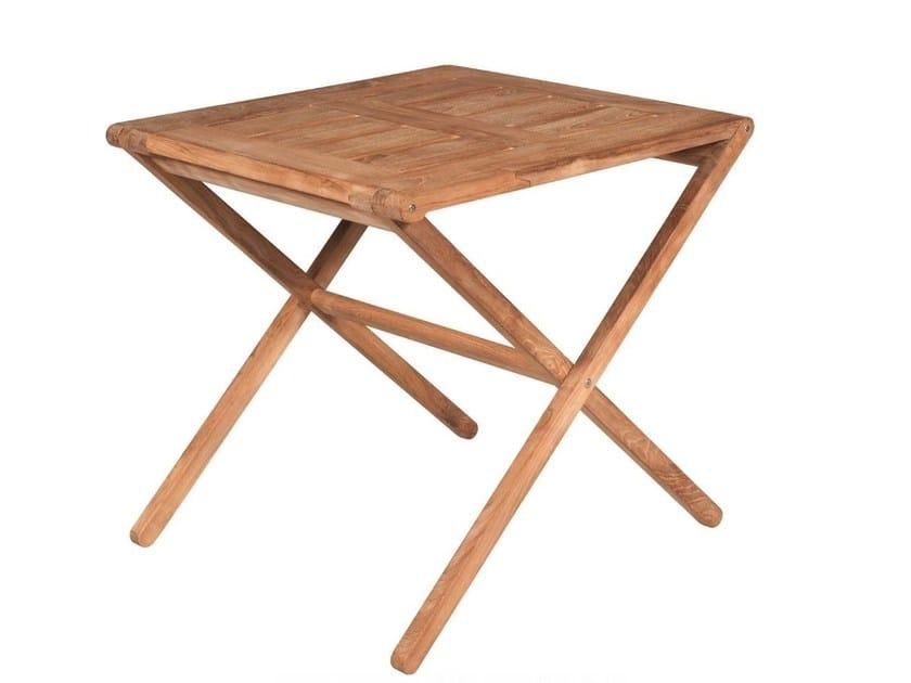 Folding square garden table COPACABANA | Garden table - Tectona