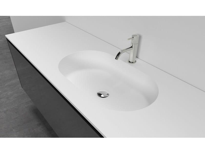 Cristalplant® washbasin countertop COPPA - Antonio Lupi Design®