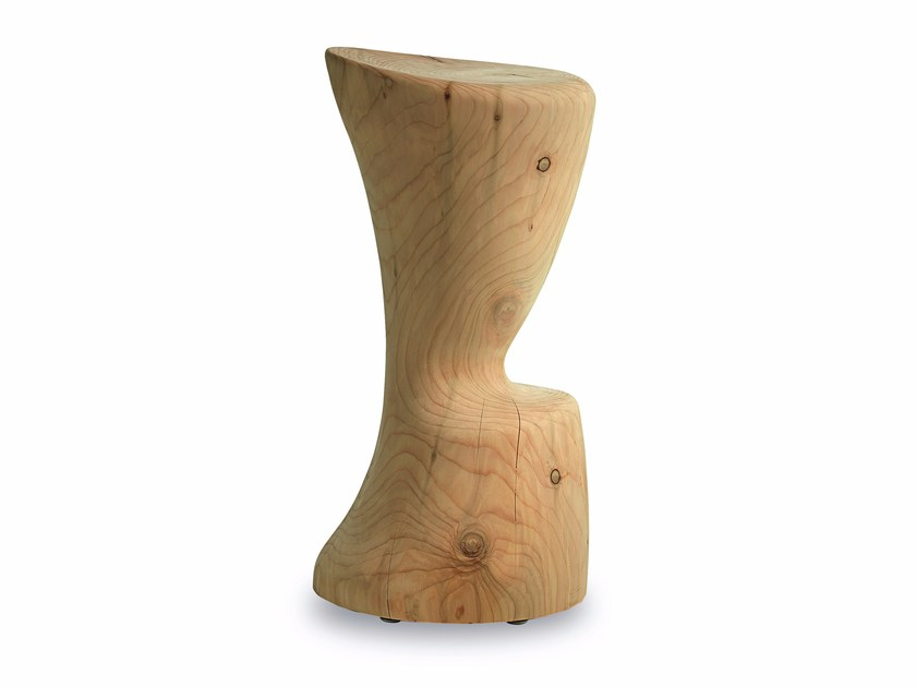 Cedarwood stool COPPA by Riva 1920