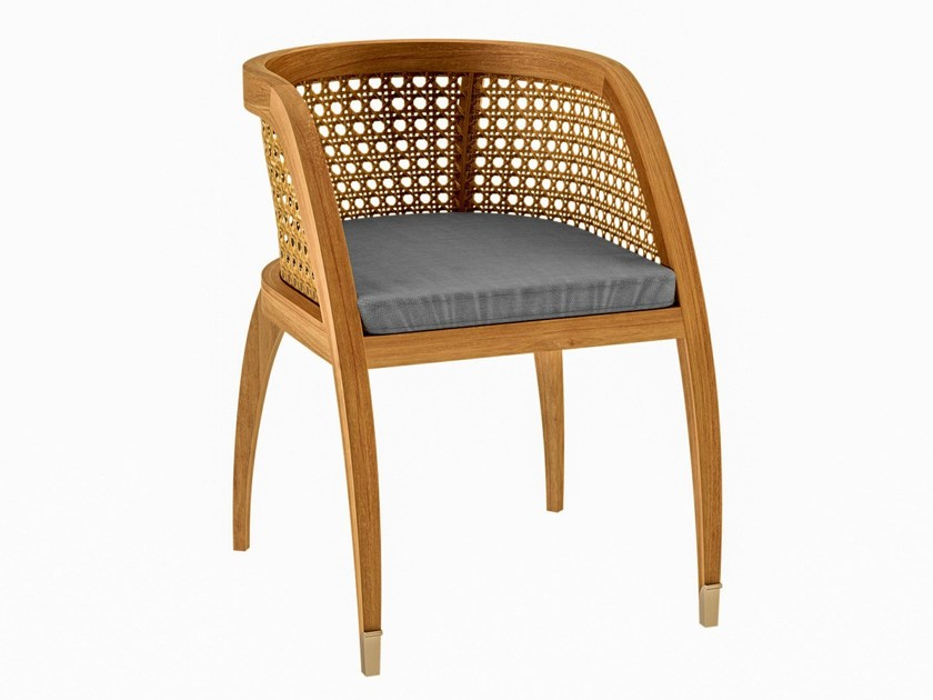Teak garden chair with armrests COQUELICOT | Chair with armrests by ASTELLO