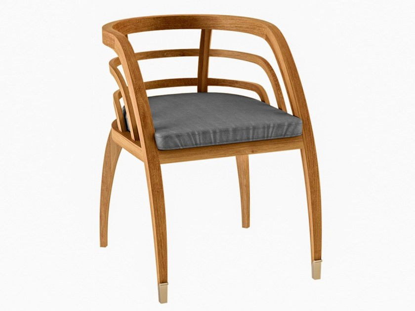 Teak garden chair with armrests COQUELICOT | Chair with armrests - ASTELLO