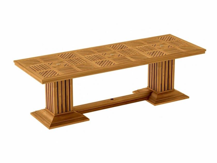 Rectangular teak garden table COQUELICOT   Rectangular table - ASTELLO