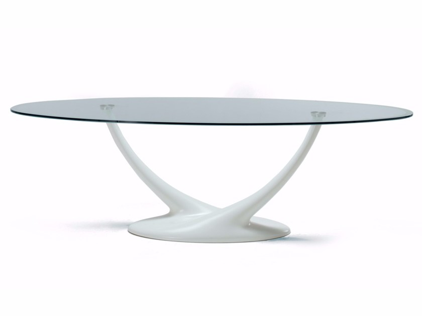 Oval crystal table CORAL by Cattelan Italia