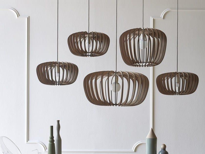 Wooden pendant lamp CORALINE by Miniforms