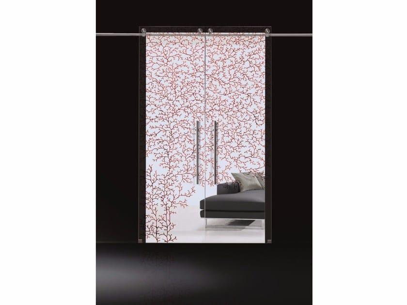 Glass sliding door CORALLO DIPINTO - Casali
