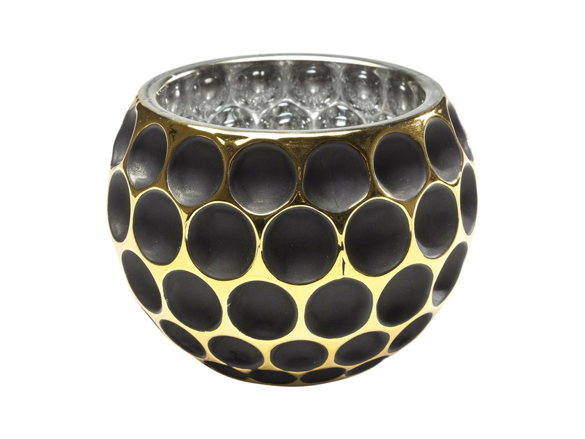 Stained glass candle holder CORDOBA B&G DOTS - KARE-DESIGN