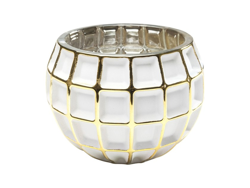 Stained glass candle holder CORDOBA W&G SQUARE - KARE-DESIGN