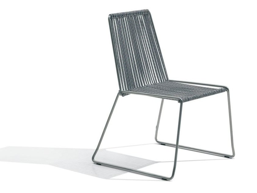 Sled base polyester chair CORDULA | Polyester chair - MissoniHome