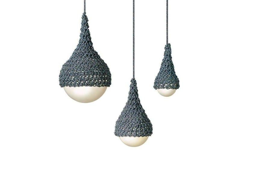 Fluorescent polyester pendant lamp CORDULA | Polyester pendant lamp - MissoniHome