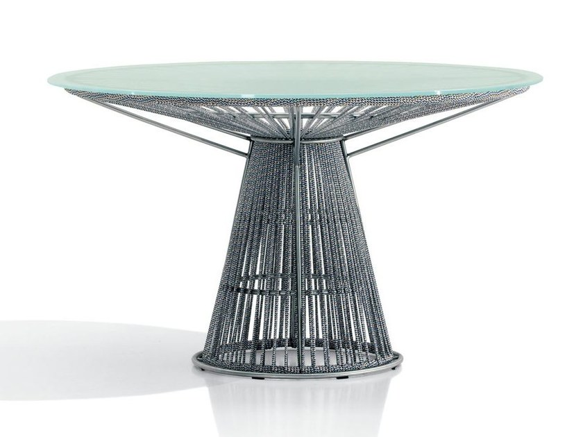 Round crystal and polyester table CORDULA | Polyester table - MissoniHome