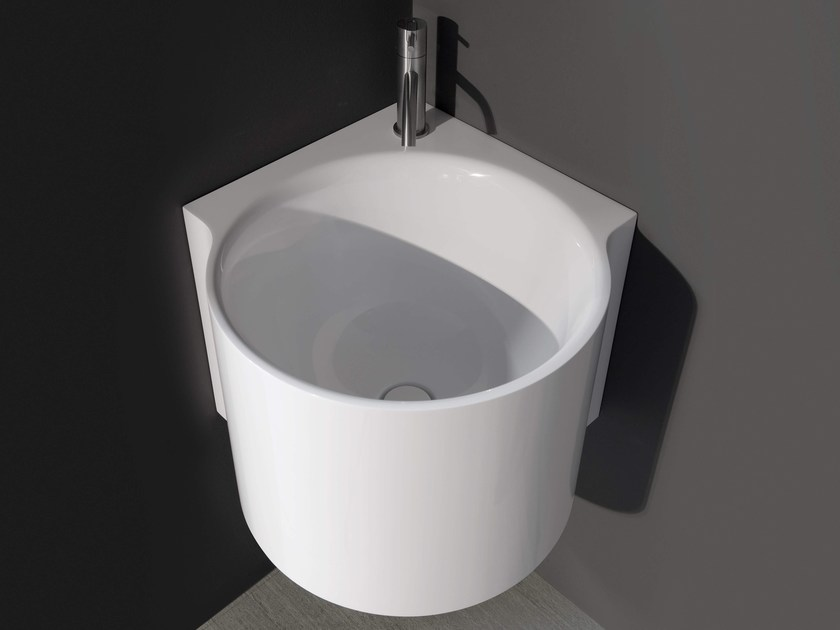 Corner Ceramilux® washbasin CORNER by Antonio Lupi Design