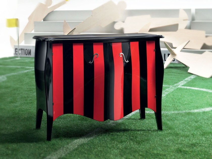 Lacquered sideboard with doors CORNER KICK by Modenese Gastone