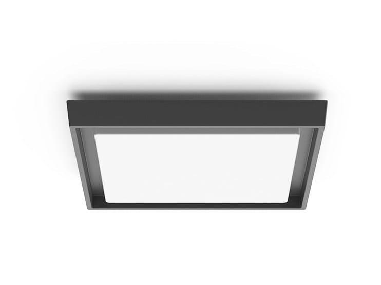 LED aluminium ceiling light CORNER by LANZINI